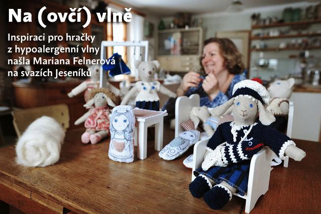 Na ovčí vlně: inspiraci pro hračky z hypoalergenní vlny našla Mariana Felnerová na svazích Jeseníků