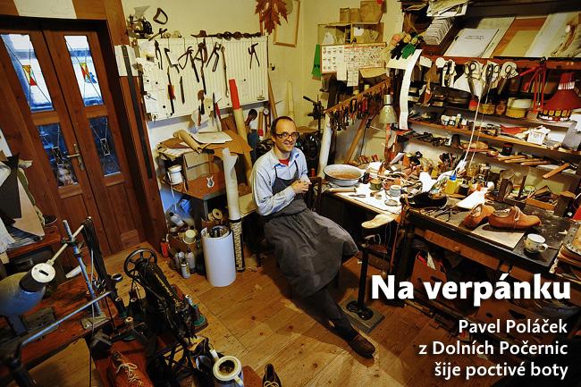 Na verpánku: Pavel Poláček z Dolních Počernic šije poctivé boty